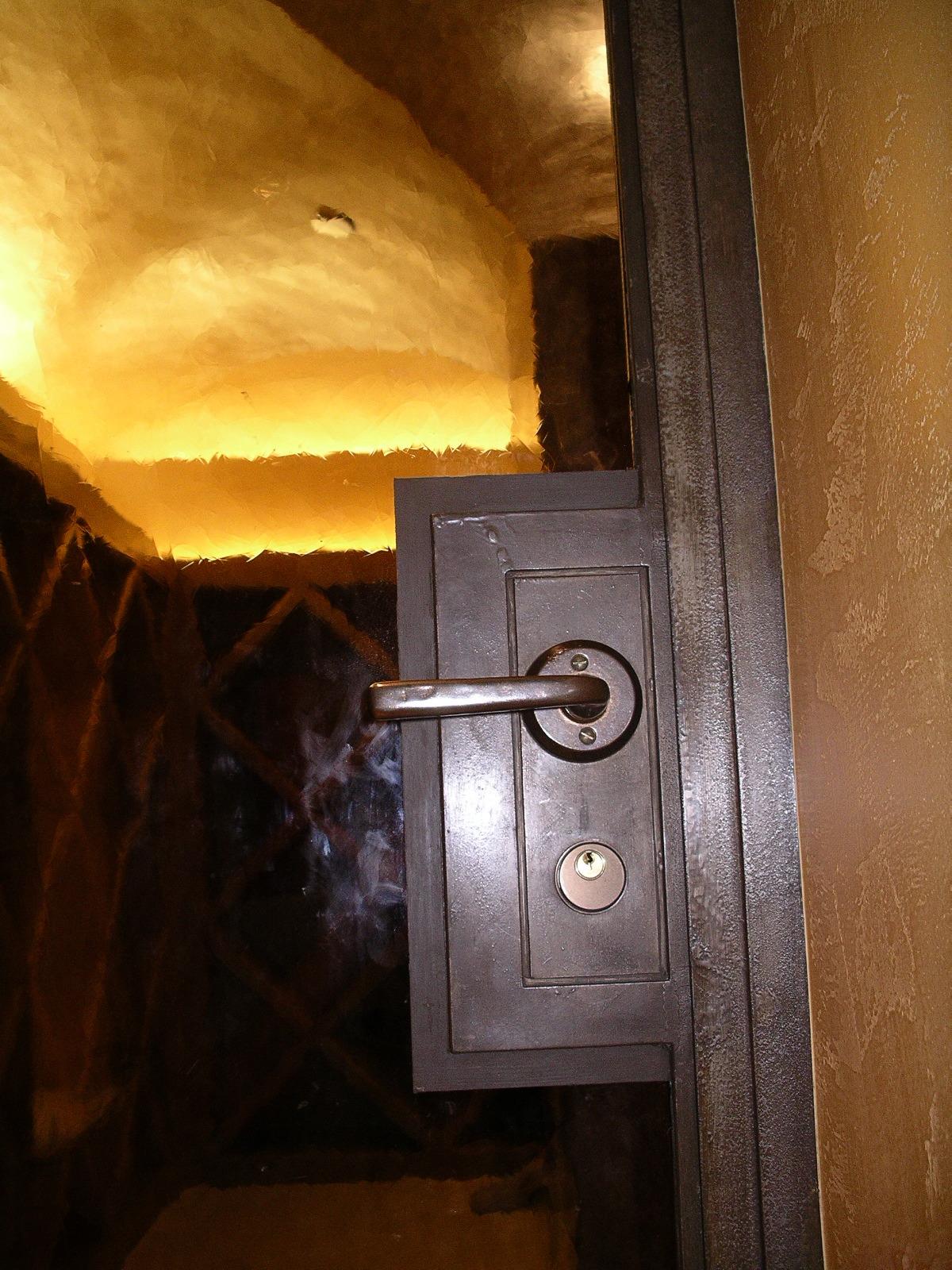 Wine Cellar Gl Door Hardware Custom Oil Stain On Steel Renaissance Wax Marshall Johnson Painting
