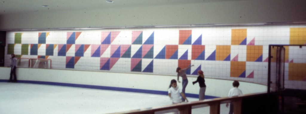 Large Painted Graphics; ice arena.  Stephanie Furniss Design.  Marshall Johnson Painting.